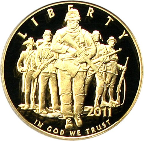 sample image for 2011-W United States Army $5  PR DCAM