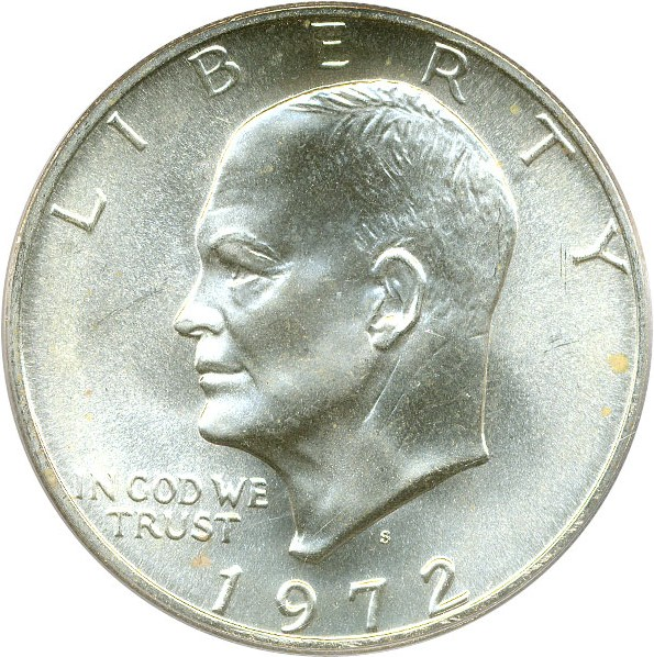 sample image for 1972-S $1  MS Silver
