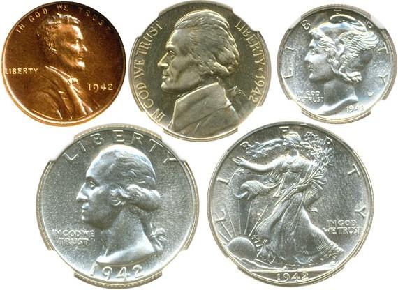 sample image for 1942 Proof Set 1c-50c PR 5 Coins