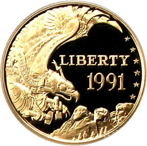 sample image for 1991-W Mt. Rushmore $5  PR DCAM