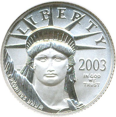 sample image for 2003 Platinum Eagle $10  MS