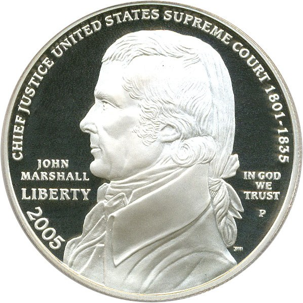 sample image for 2005-P Marshall $1  PR DCAM