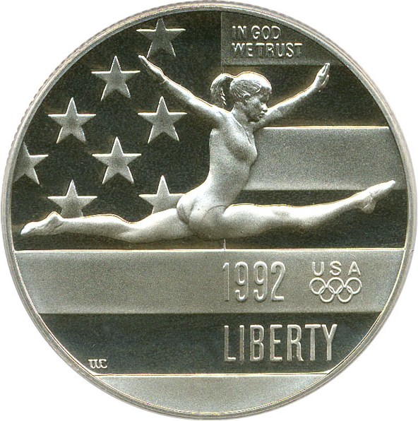 sample image for 1992-S Olympic Gymnast 50c PR DCAM