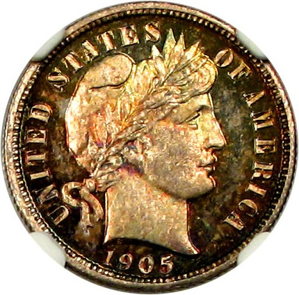 sample image for 1905 10c PR