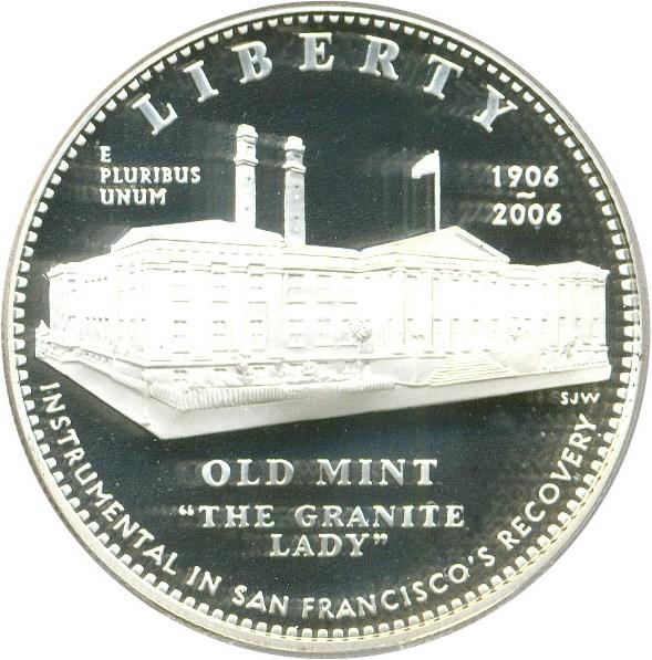 sample image for 2006-S San Francisco Old Mint $1  PR DCAM