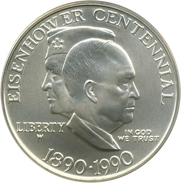sample image for 1990-W Eisenhower $1  MS