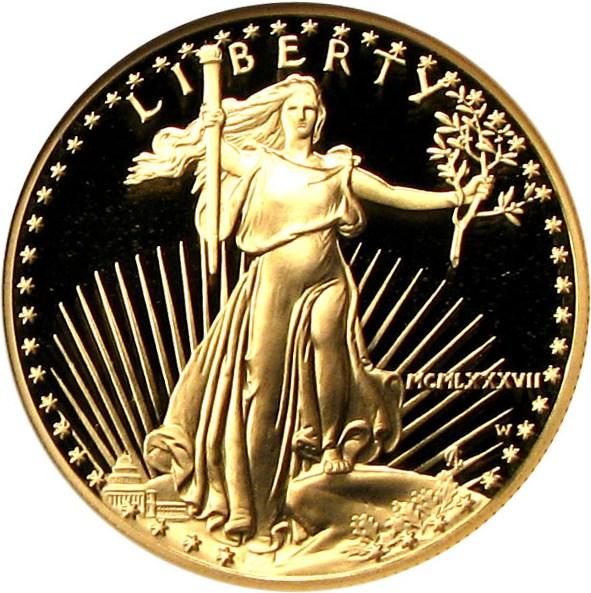 sample image for 1987-W Gold Eagle $50  PR DCAM
