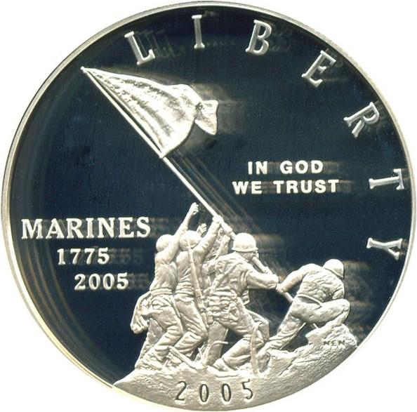 sample image for 2005-P Marine Corps $1  PR DCAM