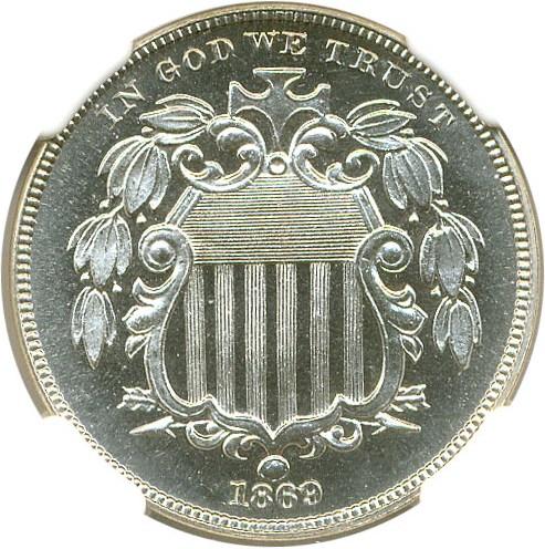 sample image for 1869 5c PR CAM