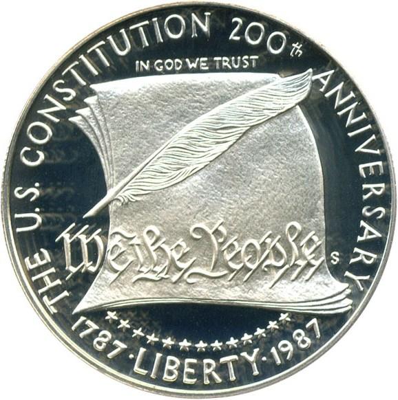 sample image for 1987-S Constitution $1  PR DCAM