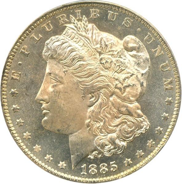 sample image for 1885-O $1  MS DMPL
