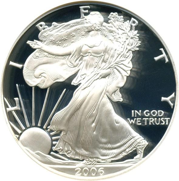 sample image for 2006-W Silver Eagle $1  PR DCAM
