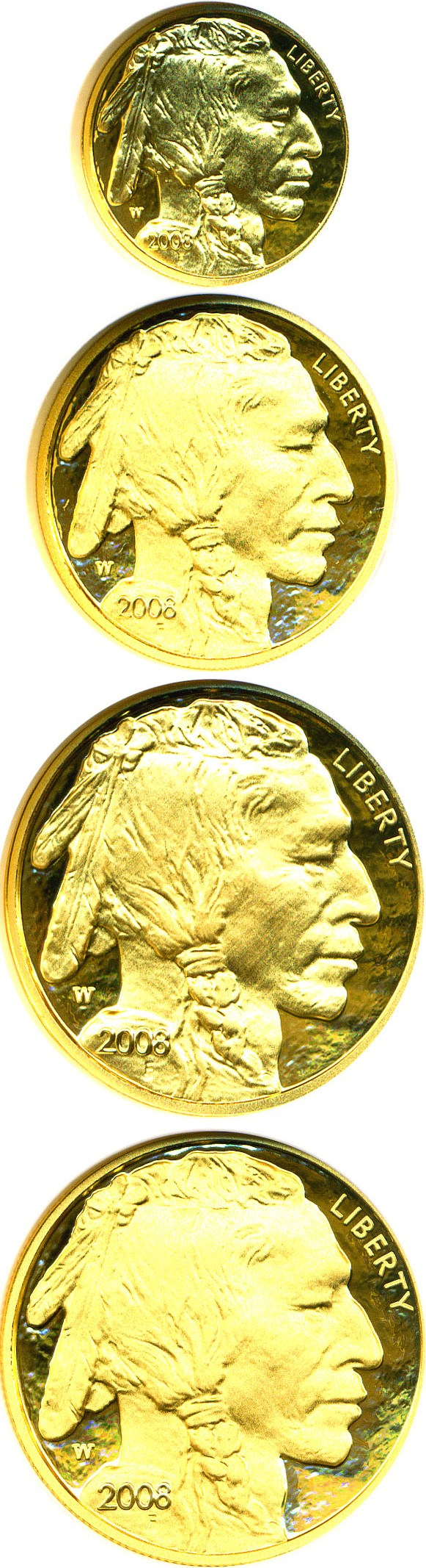 sample image for 2008-W American Buffalo Set MS 4 Coins