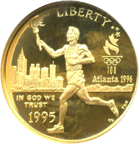 sample image for 1995-W Olympic Torch $5  PR DCAM