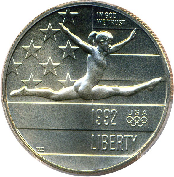 sample image for 1992-P Olympic Gymnast 50c MS