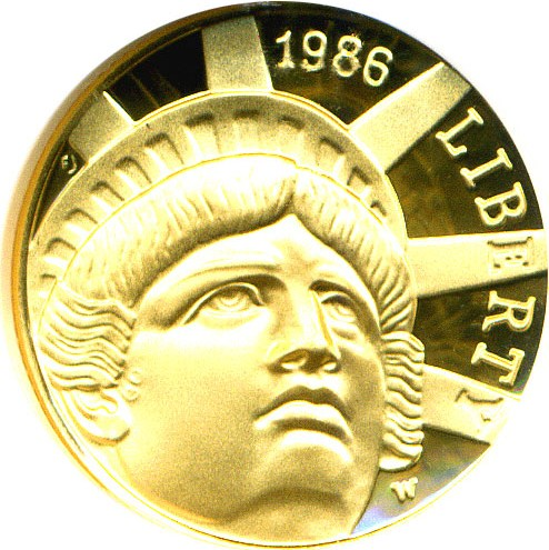 sample image for 1986-W Statue of Liberty $5  PR DCAM