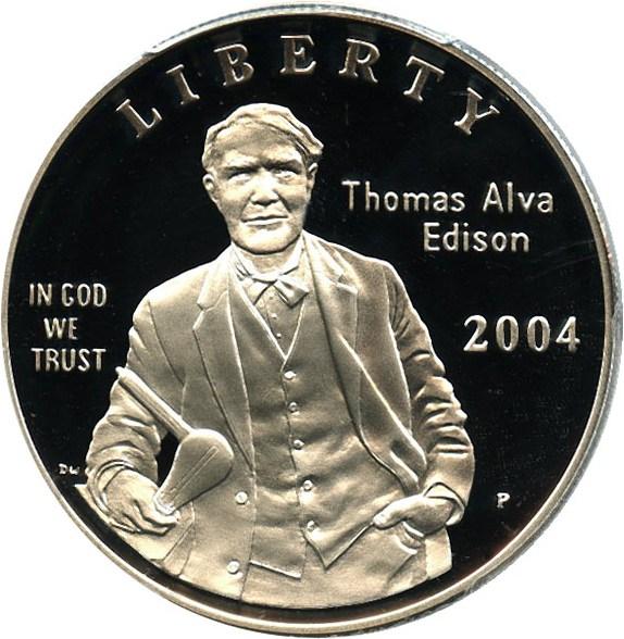 sample image for 2004-P Edison $1  PR DCAM