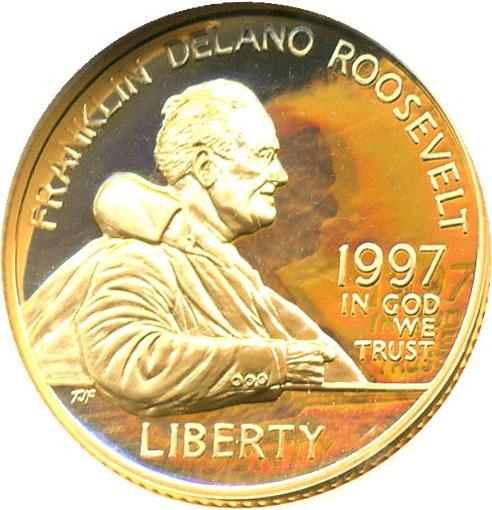 sample image for 1997-W Franklin D. Roosevelt $5  PR DCAM