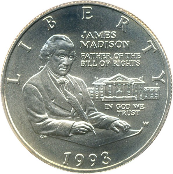 sample image for 1993-W Bill of Rights 50c MS