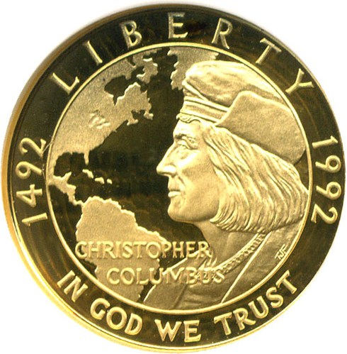 sample image for 1992-W Columbus $5  PR DCAM