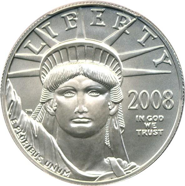 sample image for 2008-W Platinum Eagle $100  MS Burnished