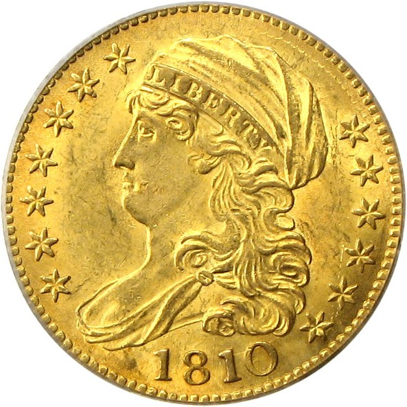 sample image for 1810 $5  MS Lage Date, Large 5