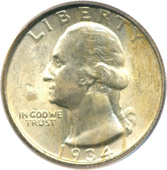 sample image for 1934 25c MS Medium Motto
