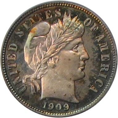sample image for 1909 10c PR