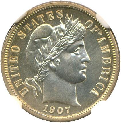 sample image for 1907 10c PR
