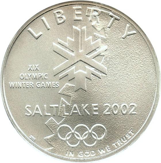 sample image for 2002-P Salt Lake City Olympics $1  MS