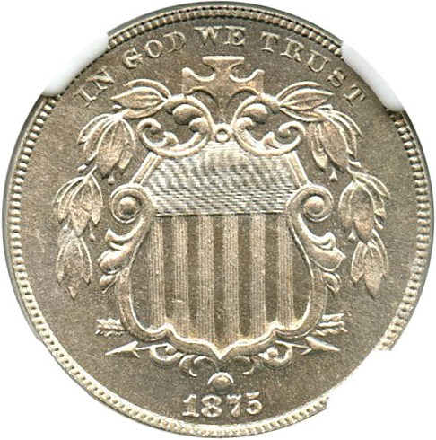 sample image for 1875 5c PR