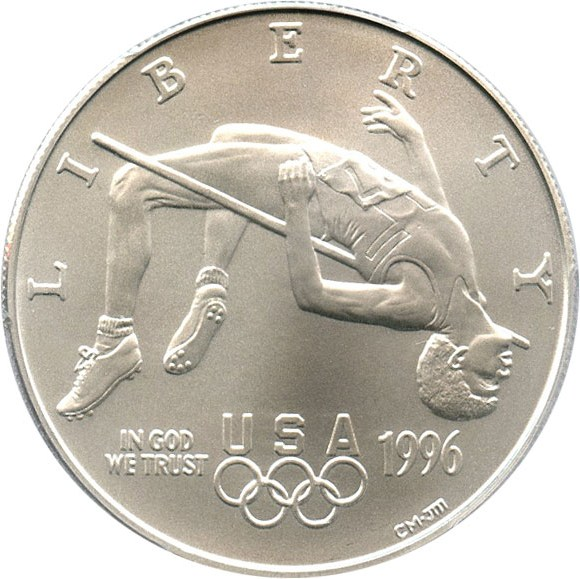 sample image for 1996-D Olympic High Jump $1  MS