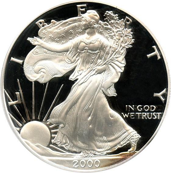 sample image for 2000-P Silver Eagle $1  PR DCAM