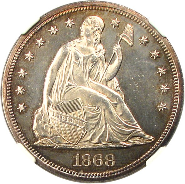 sample image for 1868 $1  MS