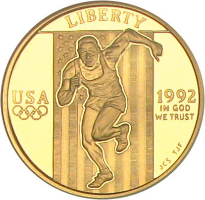 sample image for 1992-W Olympic Sprinter $5  PR DCAM