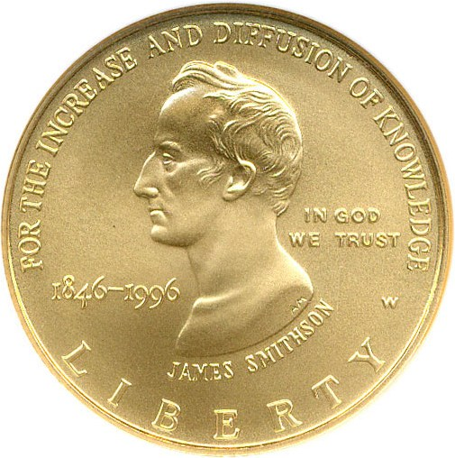 sample image for 1996-W Smithsonian $5  MS