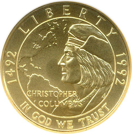 sample image for 1992-W Columbus $5  MS