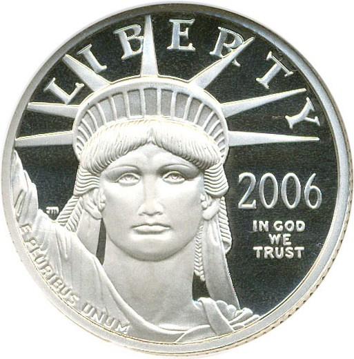sample image for 2006-W Platinum Eagle $25  PR DCAM