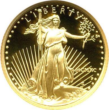 sample image for 1990-P Gold Eagle $5  PR DCAM