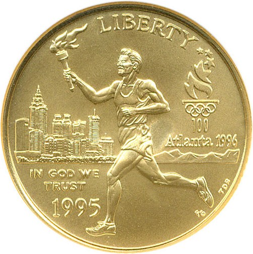sample image for 1995-W Olympic Torch $5  MS