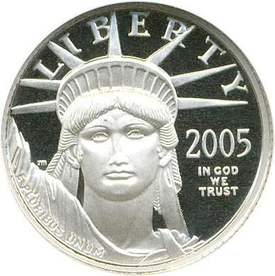 sample image for 2005-W Platinum Eagle $10  PR DCAM