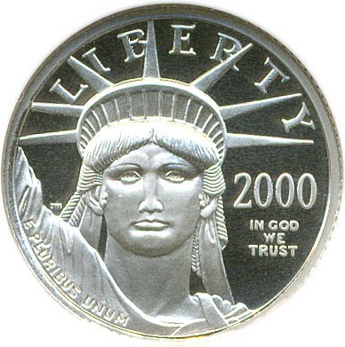 sample image for 2000-W Platinum Eagle $10  PR DCAM