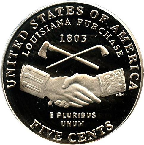 sample image for 2004-S Peace Medal 5c PR DCAM
