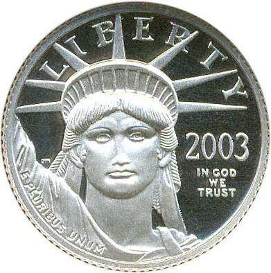 sample image for 2003-W Platinum Eagle $10  PR DCAM