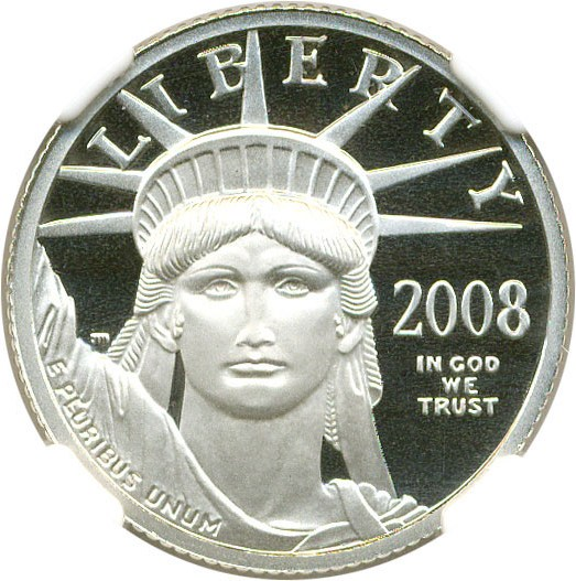 sample image for 2008-W Platinum Eagle $25  PR DCAM