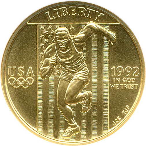 sample image for 1992-W Olympic Sprinter $5  MS