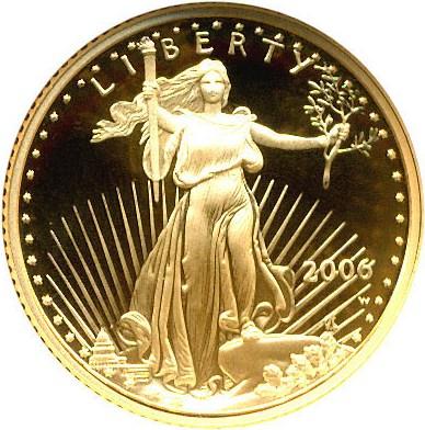 sample image for 2006-W Gold Eagle $5  PR DCAM
