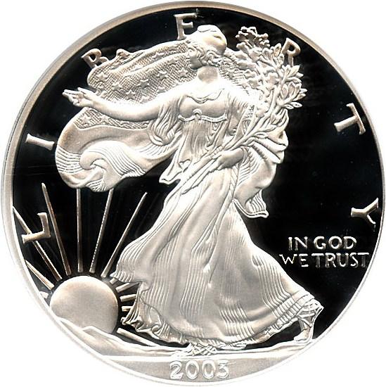 sample image for 2003-W Silver Eagle $1  PR DCAM