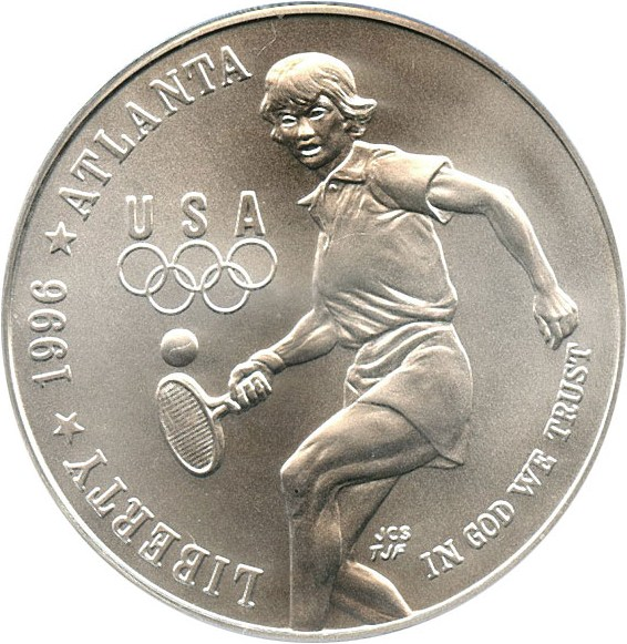 sample image for 1996-D Olympic Tennis $1  MS