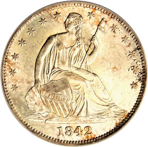 sample image for 1842-O 50c MS Medium Date, Reverse of 1842